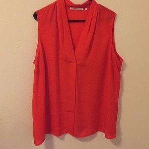Red tank top with v neck